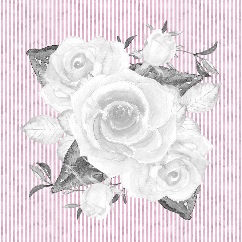 Gorgeous watercolor digital paper with roses | Craft Supplies & Paper