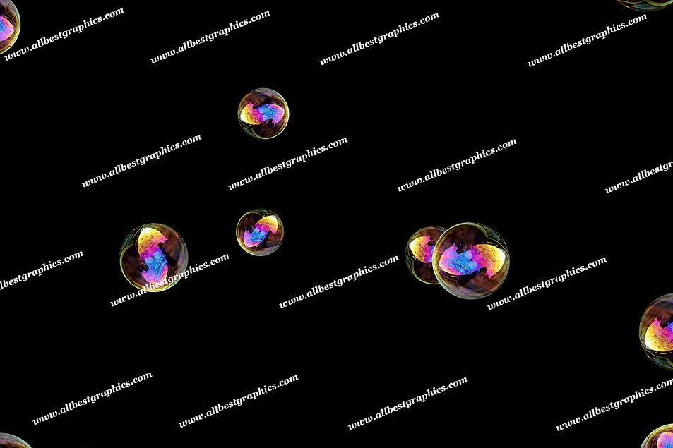Dreamy Air Bubble Overlays | Fantastic Photo Overlay on Black