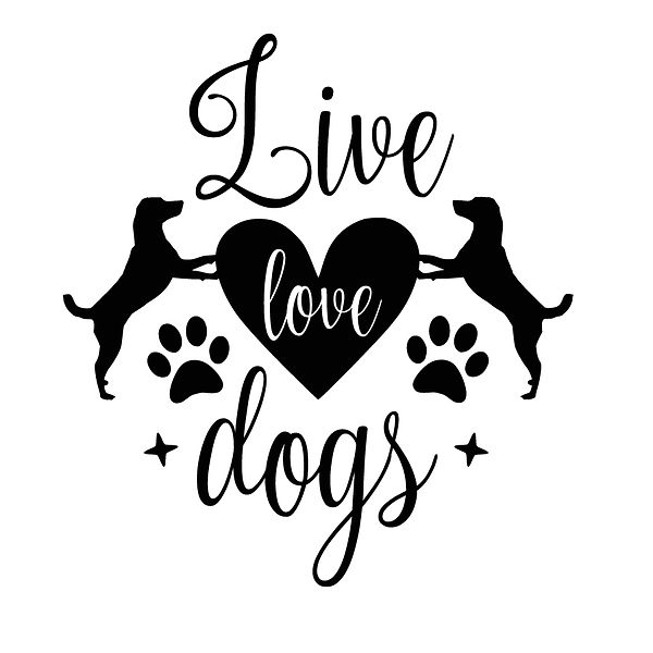 Live love dogs Png   Free download Iron on Transfer Sassy Quotes T- Shirt Design in Png