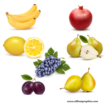 Awesome Realistic & Healthy Fresh Farm Fruits and Vegetables | Food clipart png free download