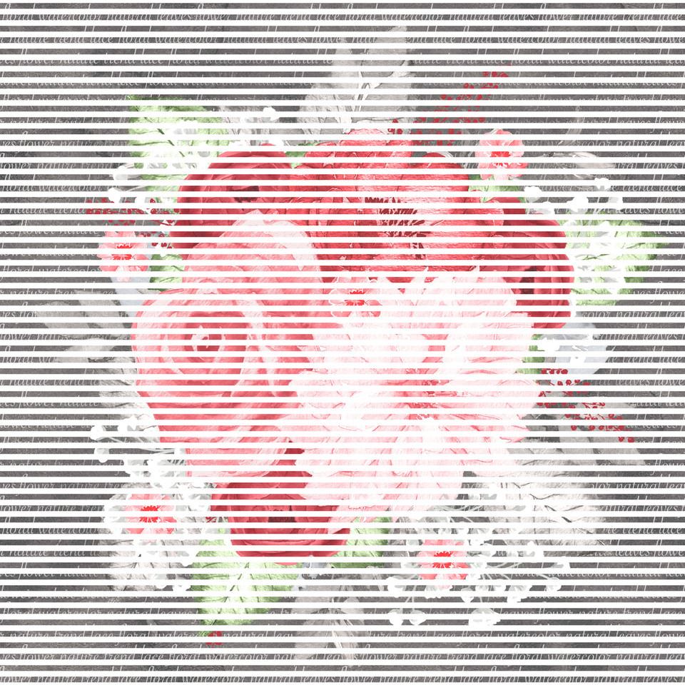 Royal watercolor digital paper with peonies | Seamless Digital Paper