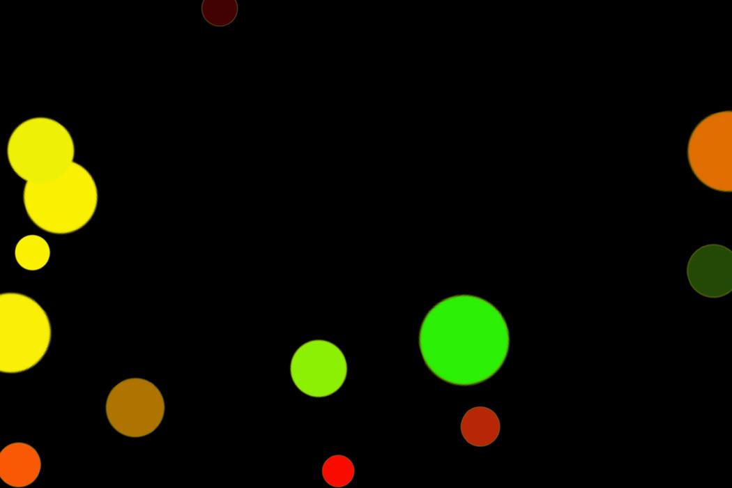 Romantic Festival Light Bokeh Clipart on black background | Freebies