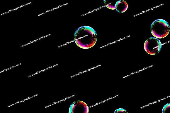 Whimsical Colorful Bubble Overlays | Fantastic Photoshop Overlay on Black