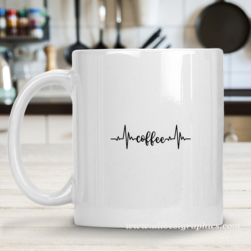 Coffee Heartbeat Cardio Line | Slay and Silly Coffee Quotes for Silhouette Cameo