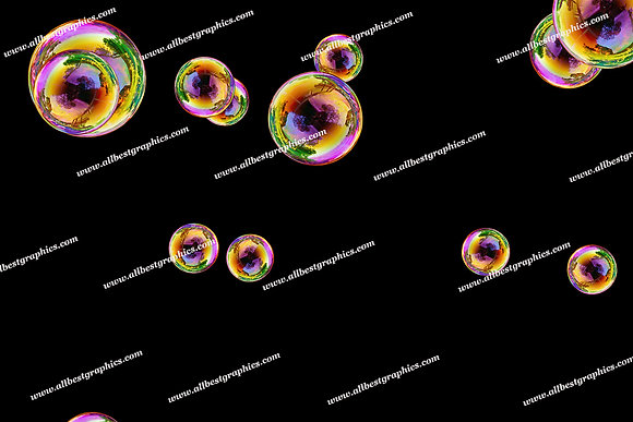 Dreamy Blowing Bubble Overlays | Fantastic Photo Overlays on Black