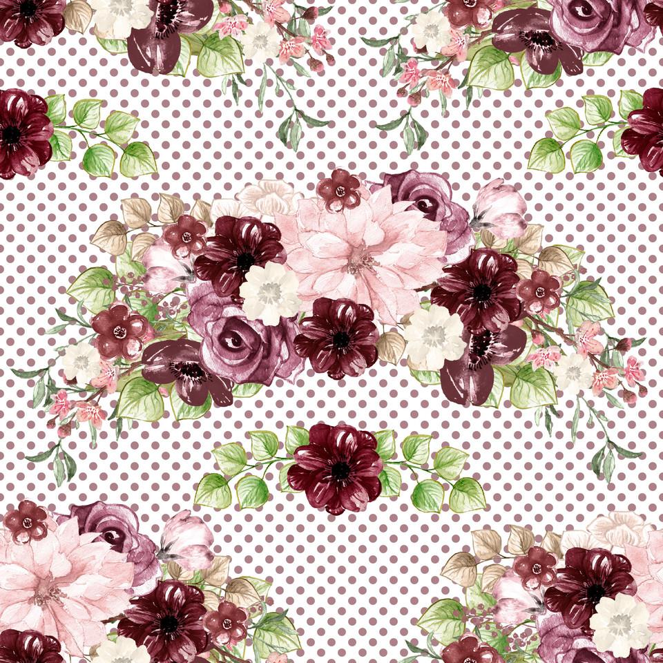Luxury watercolor digital paper with floral background | Scrapbook Digital Paper