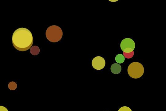 Romantic Christmas Light Bokeh Clip Art on black background | Free Overlays