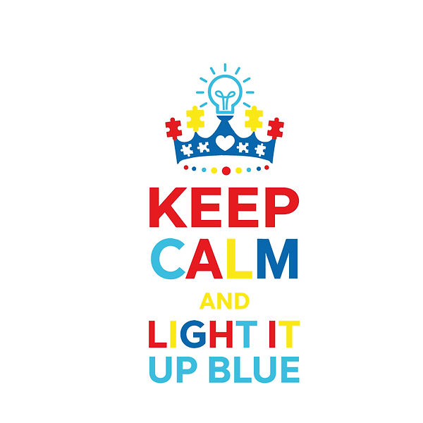 Keep calm and light it up blue color Png | Free download Iron on Transfer Sassy Quotes T- Shirt Design in Png