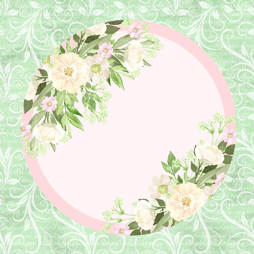 Colorful watercolor digital paper with roses   Seamless Digital Paper