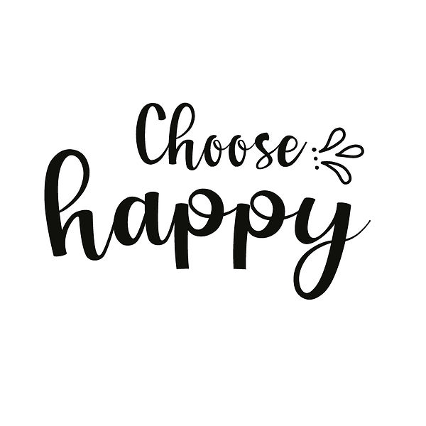 Choose happy | Free Iron on Transfer Funny Quotes T- Shirt Design in Png
