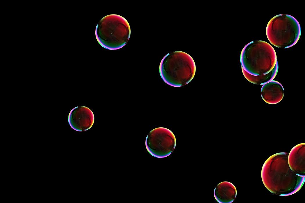 Gorgeous rainbow soap bubbles on black background   Overlays for Photoshop