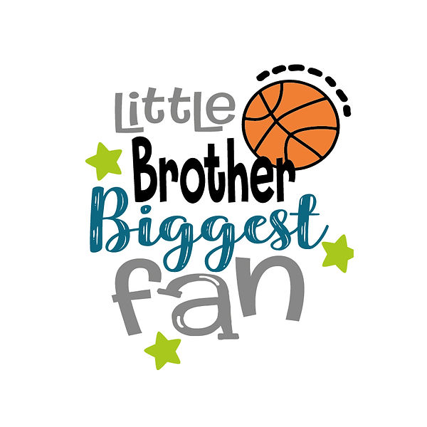 Little brother biggest fan Png   Free download Iron on Transfer Sassy Quotes T- Shirt Design in Png