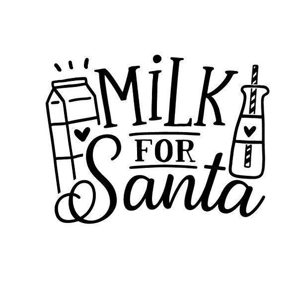 Milk for santa Png | Free download Iron on Transfer Sassy Quotes T- Shirt Design in Png