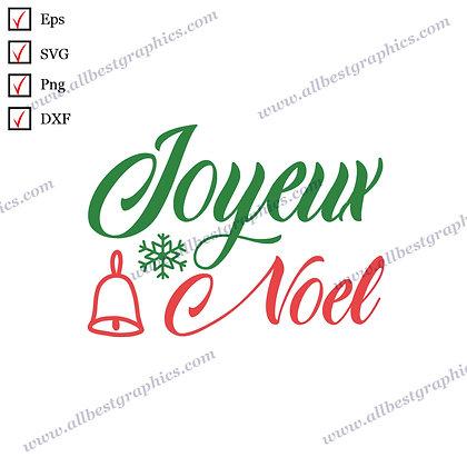 Joyeux Noel | Cool Sayings Christmas Decor Ready-to-Use SVG Dxf Png Eps