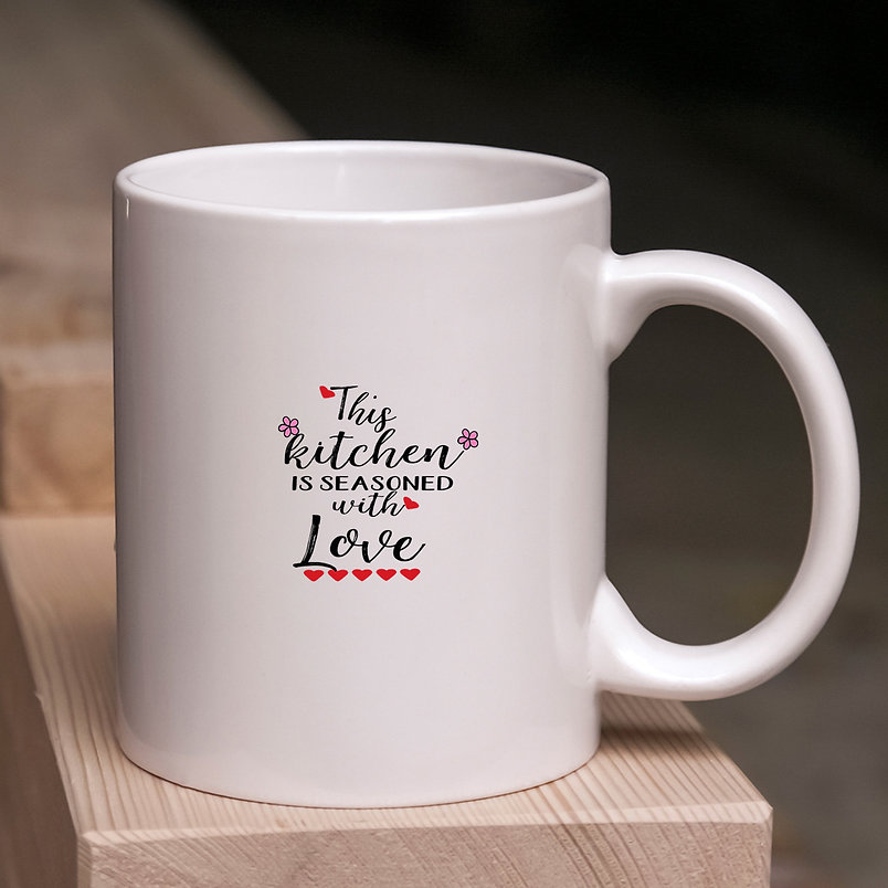 This Kitchen is Seasoned with Love | Cool Kitchen Sign Cut files in Svg Dxf Eps