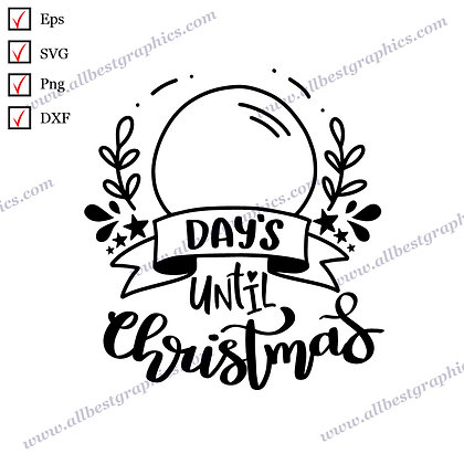 Days Until Christmas   Best Funny Quotes Christmas Template Ready-to-Use