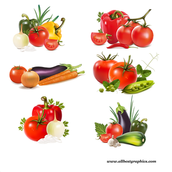 Awesome natural fruits & vegetables digital clip art  - Food clipart png free download size - 2400x2400 300ppi