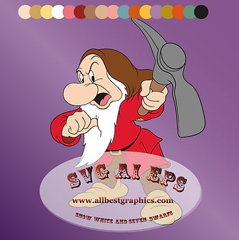 Disney clipart - I'm Grumpy Dwarf | Seven Dwarfs Eps Svg Dxf Png