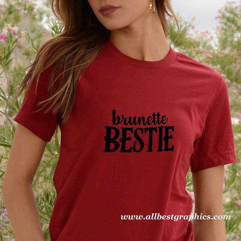 Bestie brunette | Cool T-Shirt QuotesCut files inDxf Svg Eps