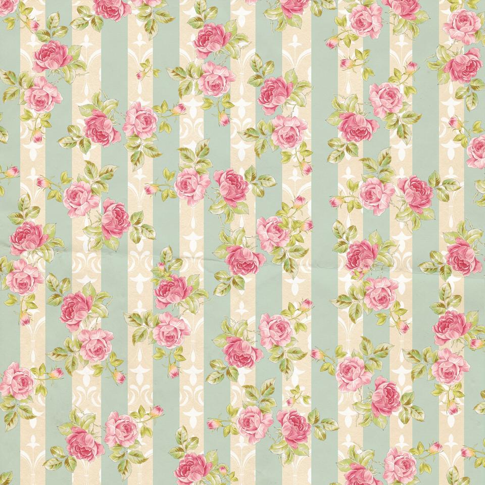 Summer floral digital paper with peonies | Gift Digital Paper