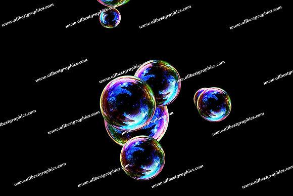 Adorable Soap Bubble Overlays   Fantastic Photoshop Overlay on Black