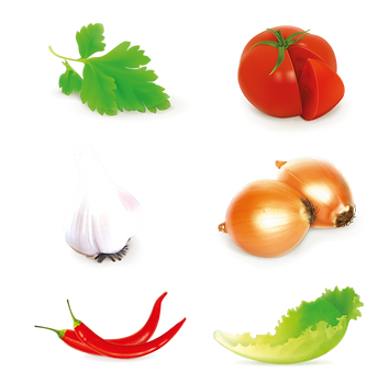 Tomato Onion & Red Chili Pepper | Food clipart free download -size 2400x2400 300ppi