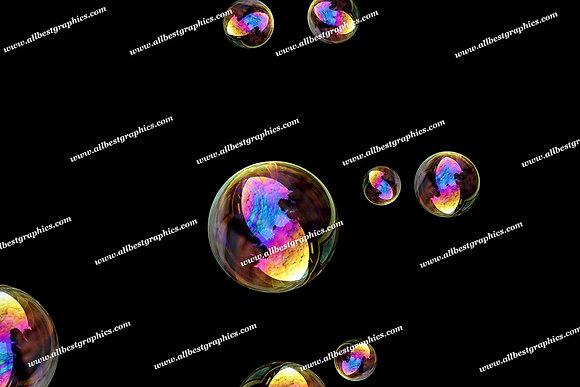 Gorgeous Air Bubble Overlays | Stunning Photoshop Overlays on Black