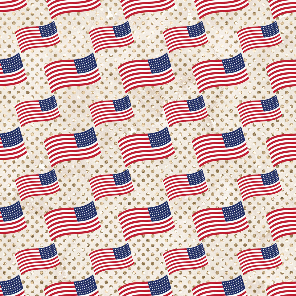 Gorgeous 4th of July Patriotic background | Seamless Digital Paper