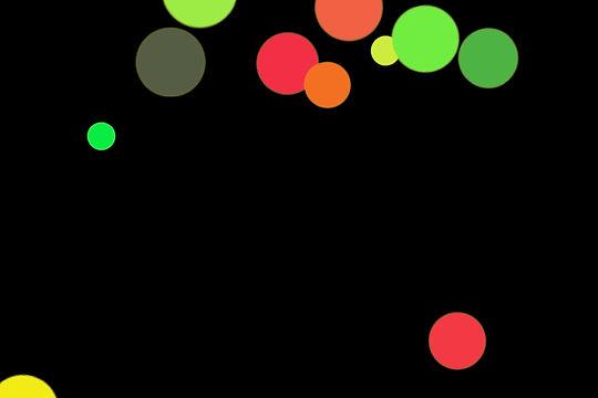 Colorful Christmas Light Bokeh Texture on black background | Photoshop Overlays