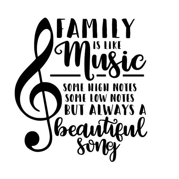 Family is like music Png | Free download Iron on Transfer Sassy Quotes T- Shirt Design in Png