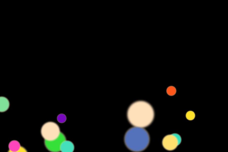 Beautiful Night Light Bokeh Background on black background | Free Overlays