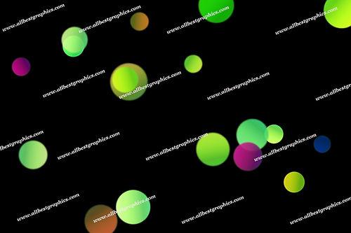 Glamour Festive Lights Bokeh Effect | Excelent Overlays for Photoshop on Black