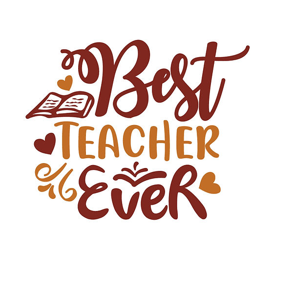 Best teacher ever | Free Iron on Transfer Cool Quotes T- Shirt Design in Png
