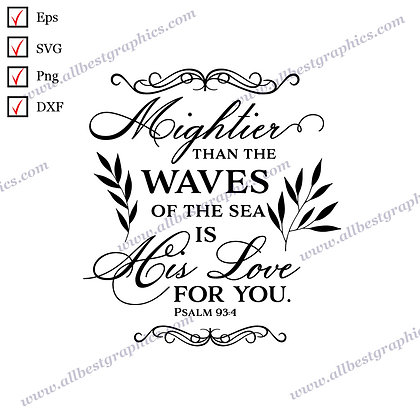 Mightier than the Waves | Best Cool Quotes Instant Download Christmas Design Cut