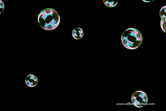 Awesome realistic soap bubbles on black background | Bubble Photoshop overlays