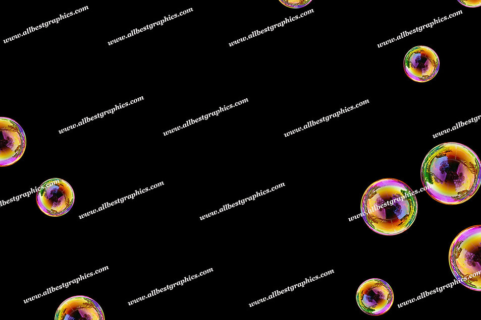 Spring Air Bubble Overlays   Stunning Photo Overlays on Black