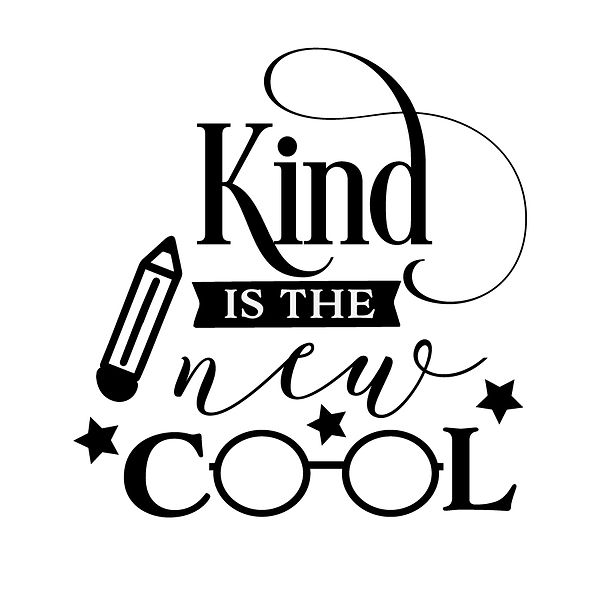 Kind is the new cool Png | Free Iron on Transfer Cool Quotes T- Shirt Design in Png