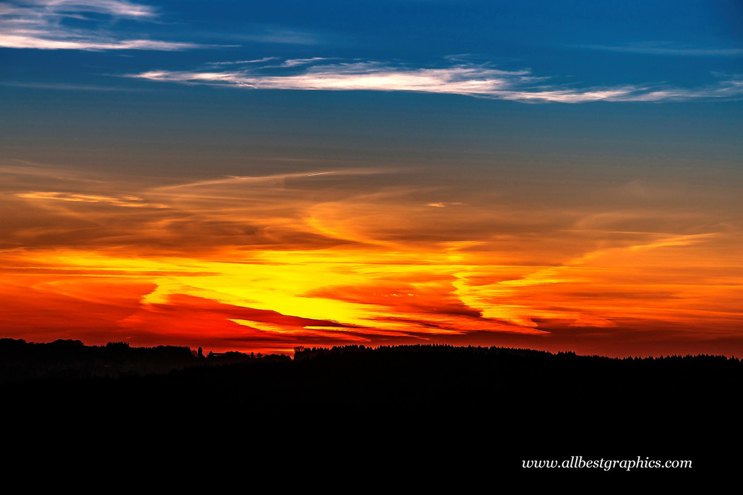 Attractive twilight sunset overlay with clouds | Photo overlays