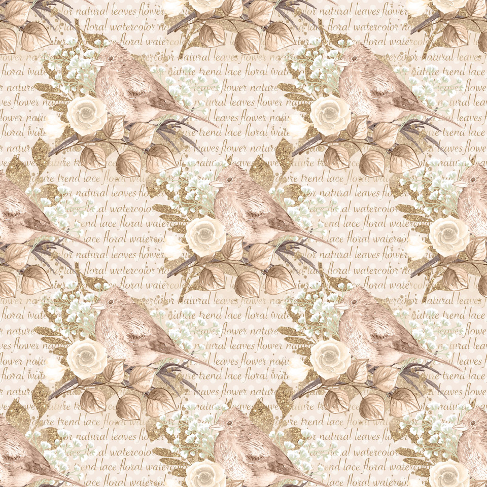 Awesome watercolor digital paper with floral design   Invitation Digital Paper