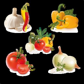 Mixed organic fruits & vegetables digital set  - Food clipart free download 2400x2400 png
