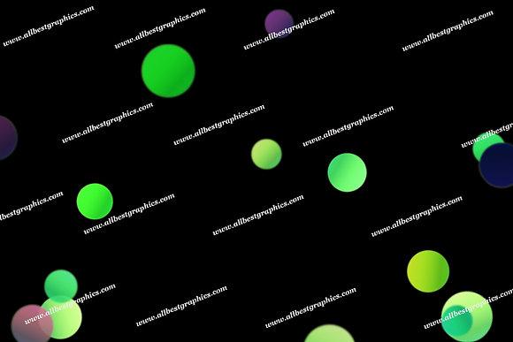 Glamour Christmas Lights Bokeh Clipart | Excelent Photoshop Overlay on Black