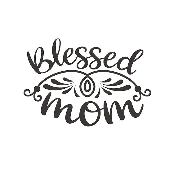 Blessed mom | Free Printable Sarcastic Quotes T- Shirt Design in Png