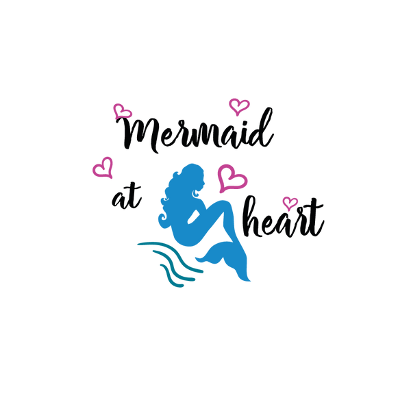 Mermaid At Heart   Free download Printable Sarcastic Quotes T- Shirt Design in Png