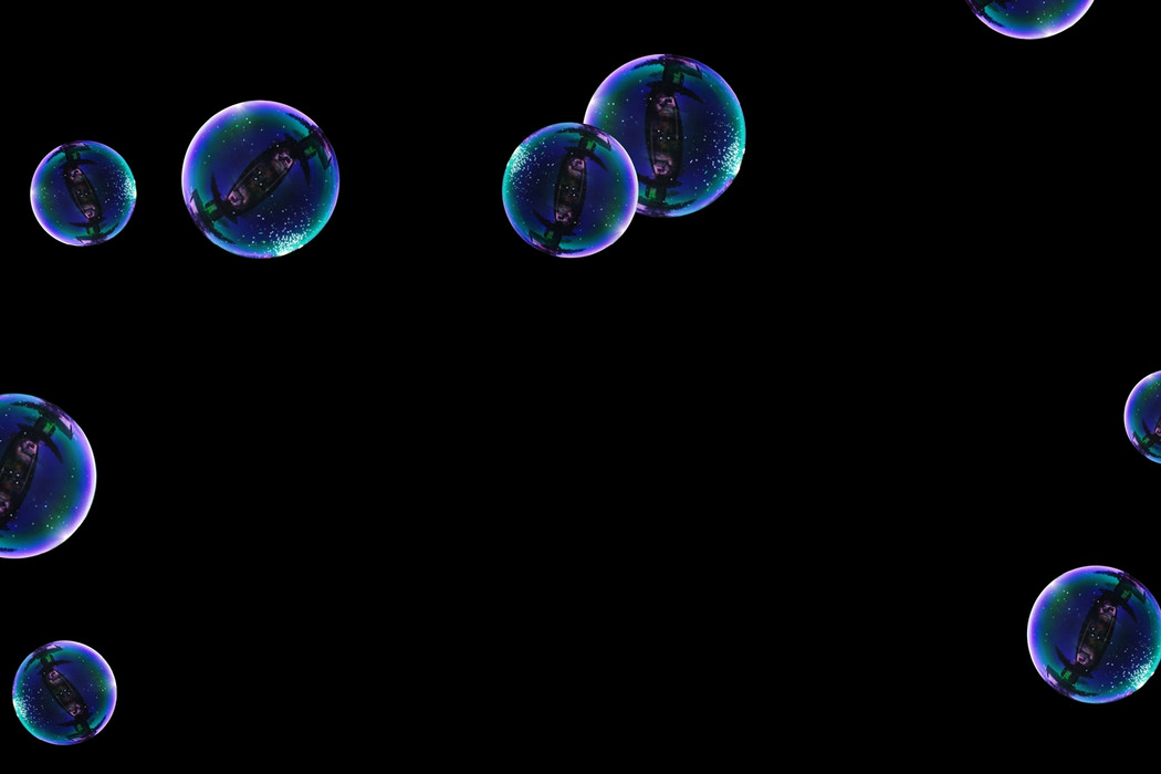 Glorious bathroom soap bubbles on black background | Overlay for Photoshop