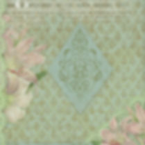 Summer floral digital paper with roses | Wrapping Digital Paper