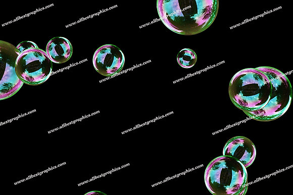 Gorgeous Realistic Bubble Overlays | Professional Photoshop Overlay on Black