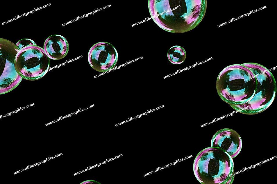 Gorgeous Realistic Bubble Overlays   Professional Photoshop Overlay on Black