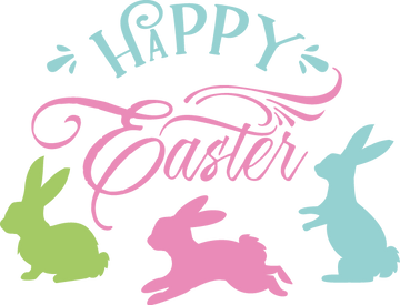 Happy Easter | Happy Easter and Bunny Quotes & Signs Cut files in Svg Eps Dxf