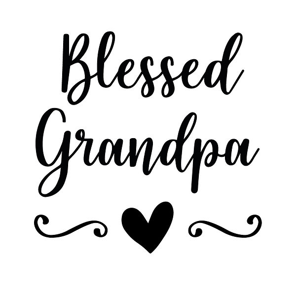 Blessed grandpa | Free Iron on Transfer Funny Quotes T- Shirt Design in Png