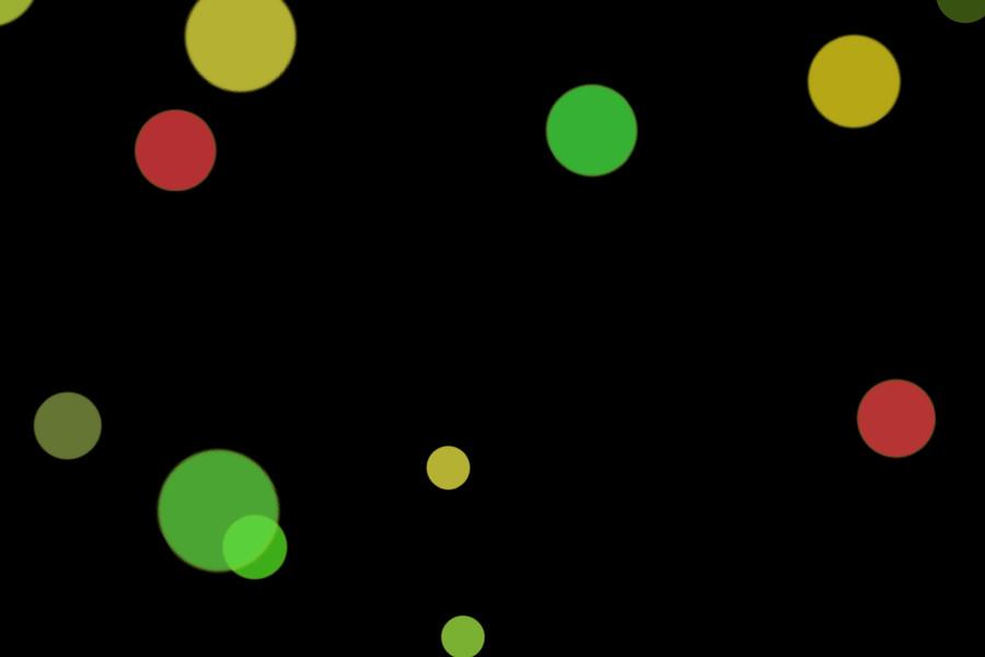 Beautiful Night Light Bokeh Clipart on black background | Free Overlays